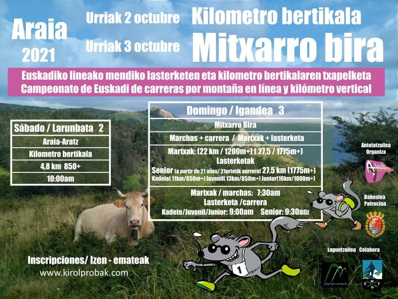MITXARRO BIRA 2021-CARRERA JUNIORS - Inscríbete
